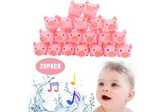 Jouets éducatifs Generic 20 pièces ssafety vinyle jouet anneau de dentition caoutchouc cochon bébé bain jouet douche jouet pour enfant @suoupasora4866