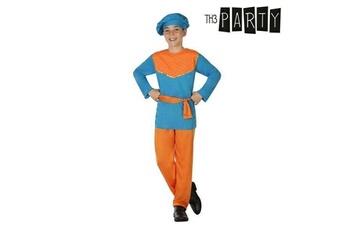 Déguisements Euroweb Costume pour enfant page de la reine (4 pcs) - deguisement orange bleu taille - 3-4 ans