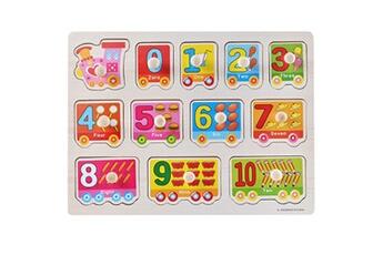 Jouets éducatifs Generic Kid early jouets éducatifs bébé main saisir puzzle en bois jouet alphabet vinwo2256