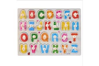Jouets éducatifs Generic Kid early jouets éducatifs bébé main saisir puzzle en bois jouet alphabet vinwo2352