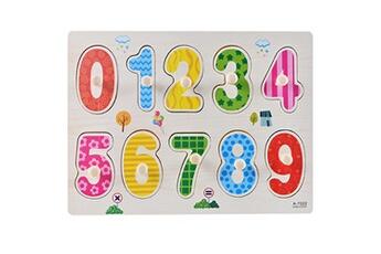 Jouets éducatifs Generic Kid early jouets éducatifs bébé main saisir puzzle en bois jouet alphabet toy1503