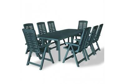 Salon de jardin 8 pers. En plastique vert - cs2750811