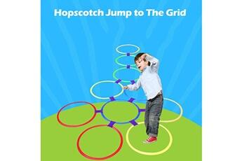 Jouets éducatifs AUCUNE Enfants aide pédagogique jouet de sport hopscotch jump to the grid jouets pour 28cm cjl90426301