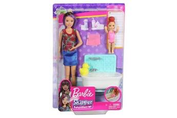 Poupées Barbie Coffret barbie babysitter heure du bain
