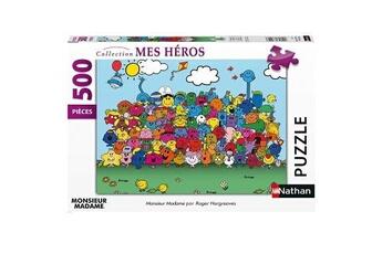 Puzzles Nathan Jeu puzzle monsieur madame 500 pièces nathan