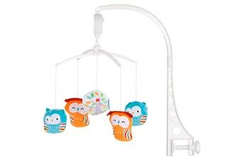 Mobile bébé Chipolino Color mobile universel musical pour lit bébé owls home