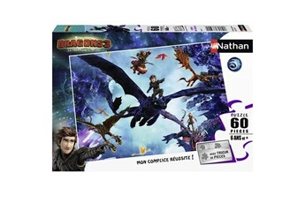 Puzzles Nathan Puzzle 60 pièces nathan equipe dragons