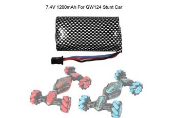 Accessoires pour la voiture Generic 7.4v 1200mah battery for gw124 stunt rc car gesture sensing toy gifts car1238