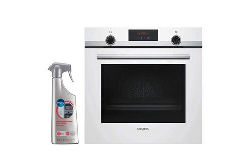 Four pyrolyse encastrable blanc 71l multifonction air pulsé cookcontrol hb5