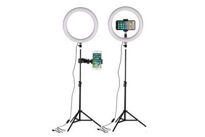 Support Pour Téléphone Mobile Yokuli Led Anneau Lumières 26cm Lampe Annulaire Studio Photographie Photo Lampes Avec 160cm Trépied Lumière Darty