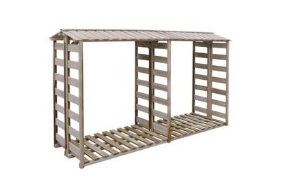 Outil pour couper et débiter le bois GENERIQUE Accessoires pour cheminées et poêles à bois edition wellington abri de stockage du bois de chauffage 300x100x176cm pin imprégné