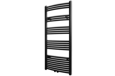 Radiateur électrique GENERIQUE Chauffage et climatisation gamme luxembourg sèche-serviettes eau chaude à rails incurvés noirs de 600 x 1424 mm