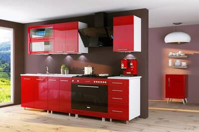 Meuble De Cuisine Dusine Fr Cuisine Rouge Laquee Infinity 6