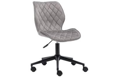 Chaise fauteuil de bureau en tissu velours gris hauteur réglable bur09084