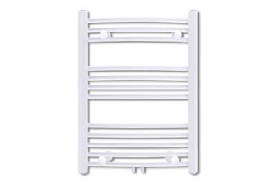 Radiateur électrique GENERIQUE Icaverne - radiateurs moderne sèche-serviettes chauffage central incurvé 500x764mm + connecteurs