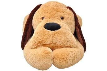 Peluches GENERIQUE Icaverne - peluches moderne chien en peluche 80 cm marron