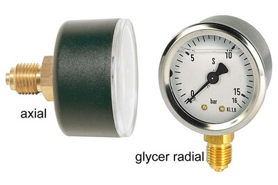 Accessoires chauffage central Jetly Manomètre diamètre 50 - sec radial - 0 à 6 bar