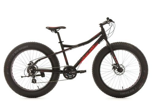 Vtt fatbike 26'' snw2458 noir tc46cm kscycling