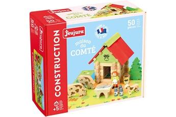 Tapis de jeu et tapis de sol JeuJura Jeu de construction bois - maison du comte - jeujura