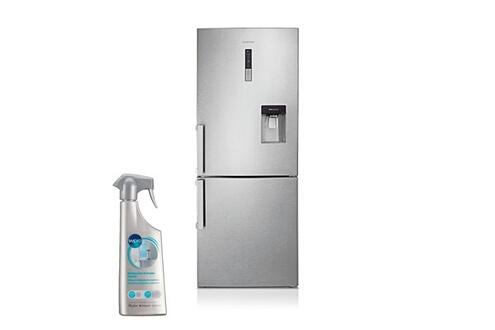 Réfrigérateur frigo combiné inox 432l a++ froid ventilé distributeur d'eau