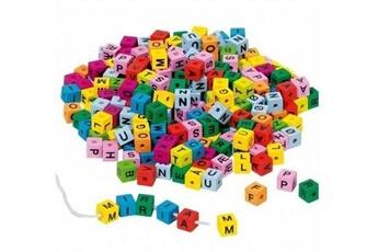 Autres jeux de construction GENERIQUE Goki - dés en bois lettres de l'alphabet colorés