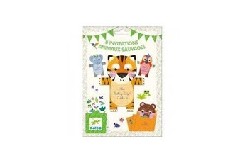 Figurines personnages Djeco Djeco 8 invitations animaux sauvages