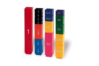 Déguisements garçons GENERIQUE Learning resources - jeu éducatif - apprendre les fractions - fraction tower cubes - langue : anglais