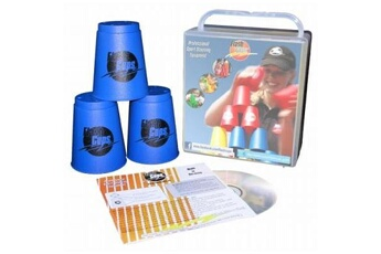 Déguisements GENERIQUE Flash cups - 1001 - set de speed stacking comprenant 12 gobelets, une housse et un dvd - bleu - langue : allemande
