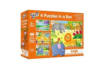 Puzzles James Galt & Co. Ltd. James galt & co. Ltd.- boîte de 4 puzzles-dinosaures galt toys, 1004735, multicolore