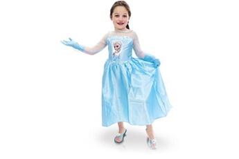 Tout pour la fête Disney Déguisement elsa + accessoires frozen la reine des neiges disney 7-8 ans