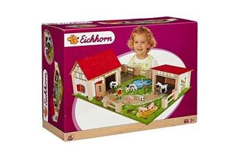 Jeux en famille Eichhorn - 100004308 - ferme en bois - accessoires inclus - 25 pièces
