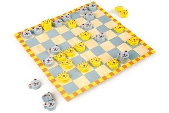 Jeux en famille SMALL FOOT Jeu de dames «chat et souris»