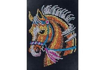 Accessoires de déguisement SEQUIN ART Tableau sequin art cheval - sequin art