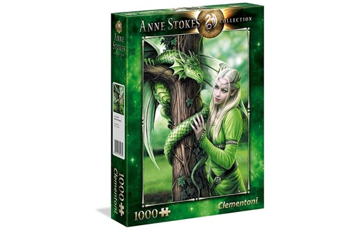 Clementoni - 39463 - anne stokes collection puzzle - kindred spirits - 1000