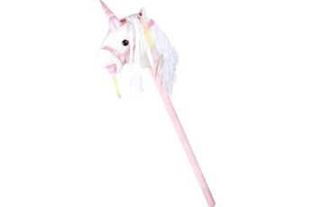 Eveil & doudou bio SMALL FOOT Cheval bâton « licorne blanche »