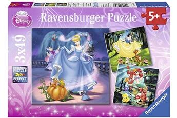 Puzzles RAVENSBURGER Ravensburger - puzzle enfant - disney princess - 3x49 pièces