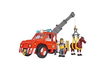Figurines personnages SIMBA Pompier sam phoenix camion grue avec cheval