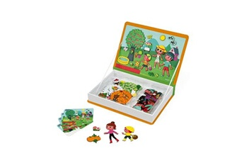 Peluches JANOD Jeu janod magnéti'book 4 saisons orange