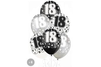 Accessoires pour maquette GENERIQUE 6 ballons anniversaire 18 ans - décoration