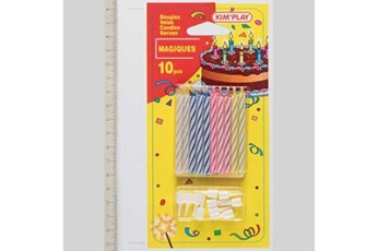 Jeux en famille Wdk 10 bougies magiques avec 10 bobèches wdk