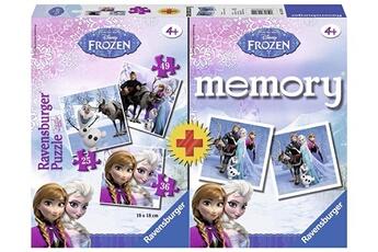 Puzzles RAVENSBURGER Ravensburger - 22311 - boîte de 3 puzzles + memory reine des neiges