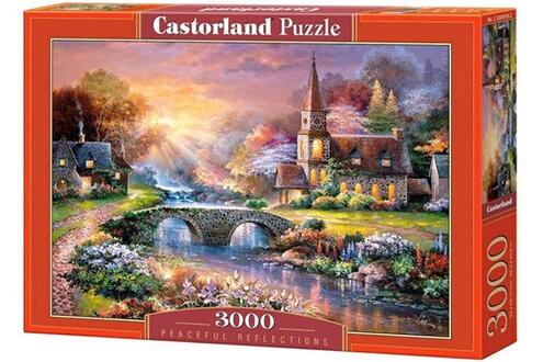 Castorland puzzle 3000 pièces - peaceful reflections