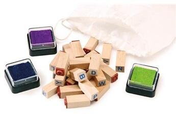 Autres jeux de construction SMALL FOOT Lot de tampons «lettres»