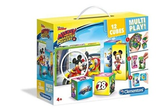 Jouets éducatifs CLEMENTONI Clementoni - 41508 - multiplay cube puzzle - mickey and the roadster racers - 12 pièces - disney
