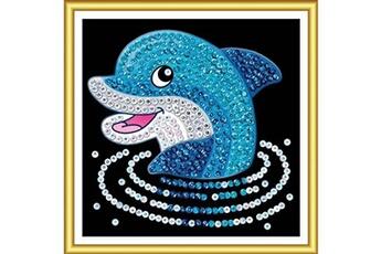 Accessoires de déguisement SEQUIN ART Tableau sequin art 60 dauphin pour débutant - sequin art