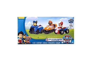 Peluches Paw Patrol Paw patrol racers 3-pack vehicle set, chase, zuma and ryder