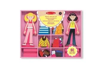 Déguisements garçons GENERIQUE Melissa & doug - 14940 - poupée et mini poupée - abby & emma - magnetic wooden dress up dolls