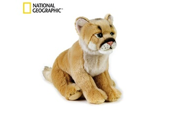 Peluches National Geographics Geographics national mountain lion animaux en peluche jouet en peluche (taille moyenne, naturel)