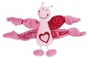 Peluches Sigikid Sigikid 49897 fille, hochet en tissu papillon, rose