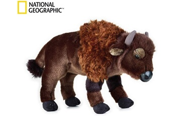 Peluches National Geographics Geographics national bison animaux en peluche jouet en peluche (taille moyenne, naturel)